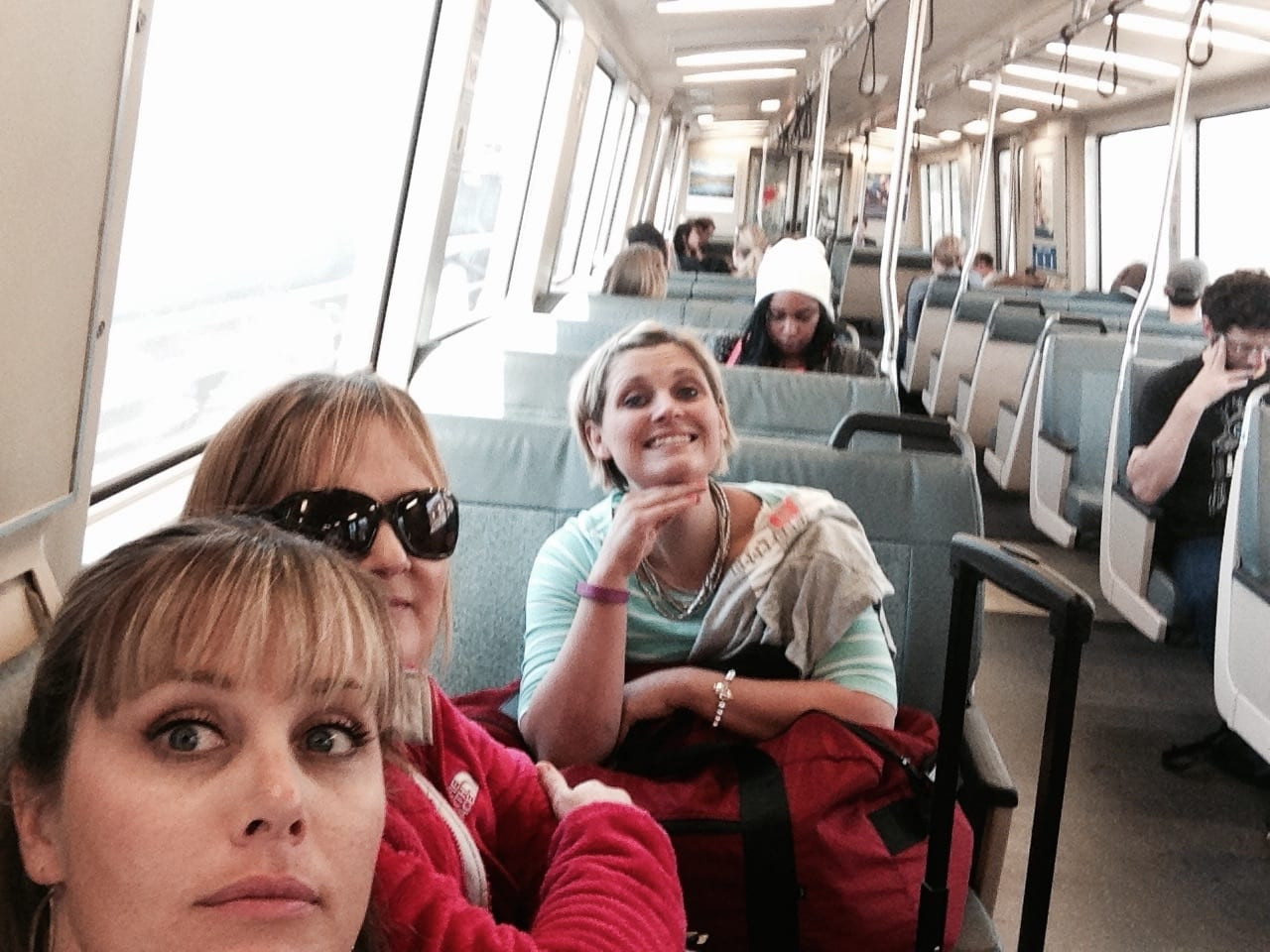 Riding the Bart in San Francisco