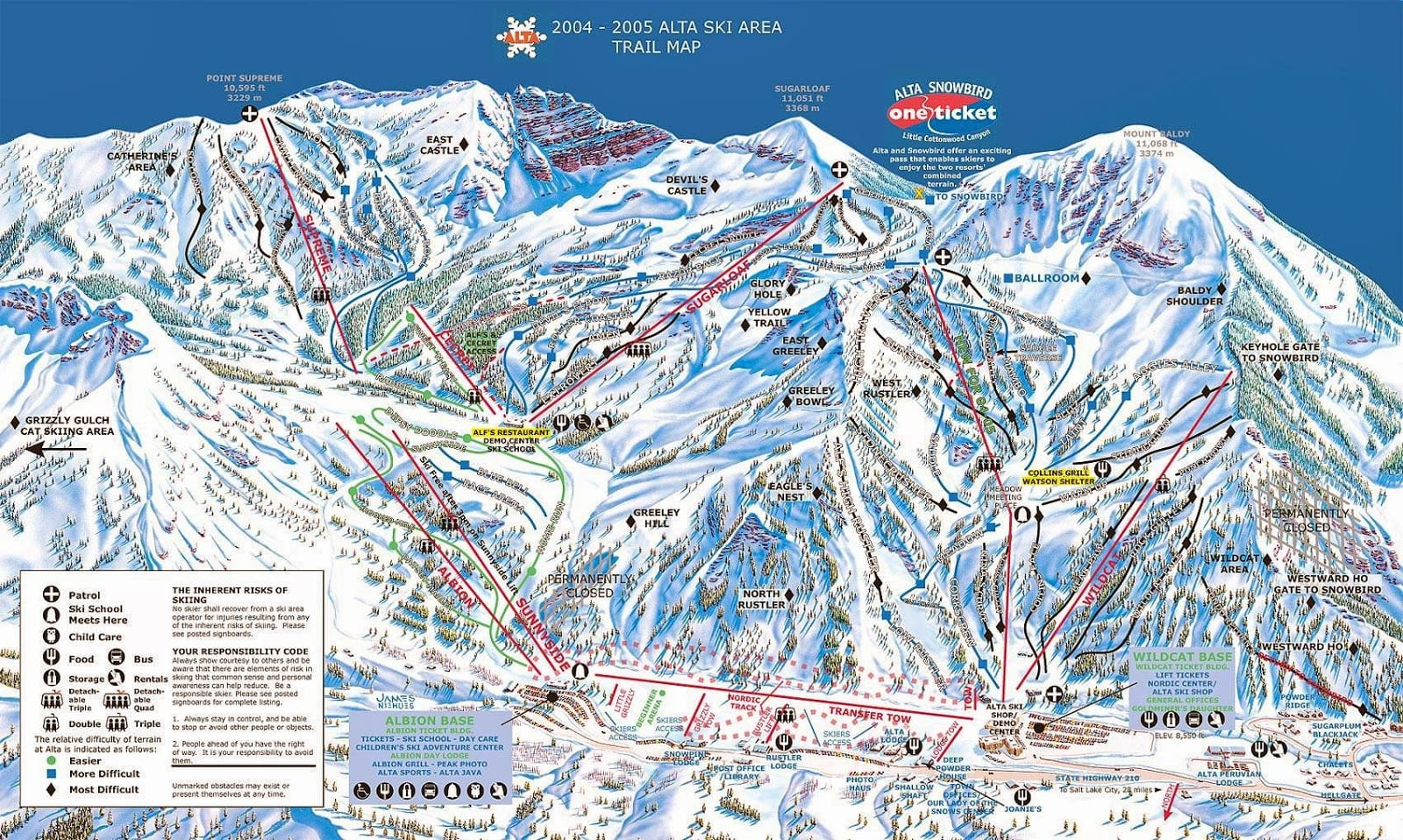 Alta Ski Resort Map Utah