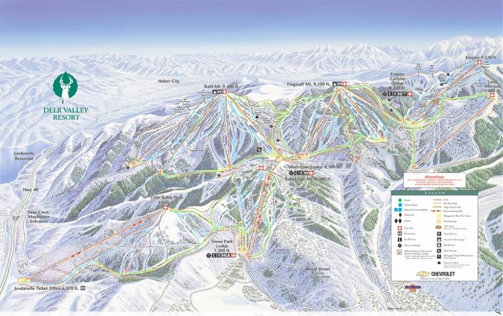 Deer Valley Ski Map