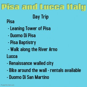 Lucca and Pisa Itinerary