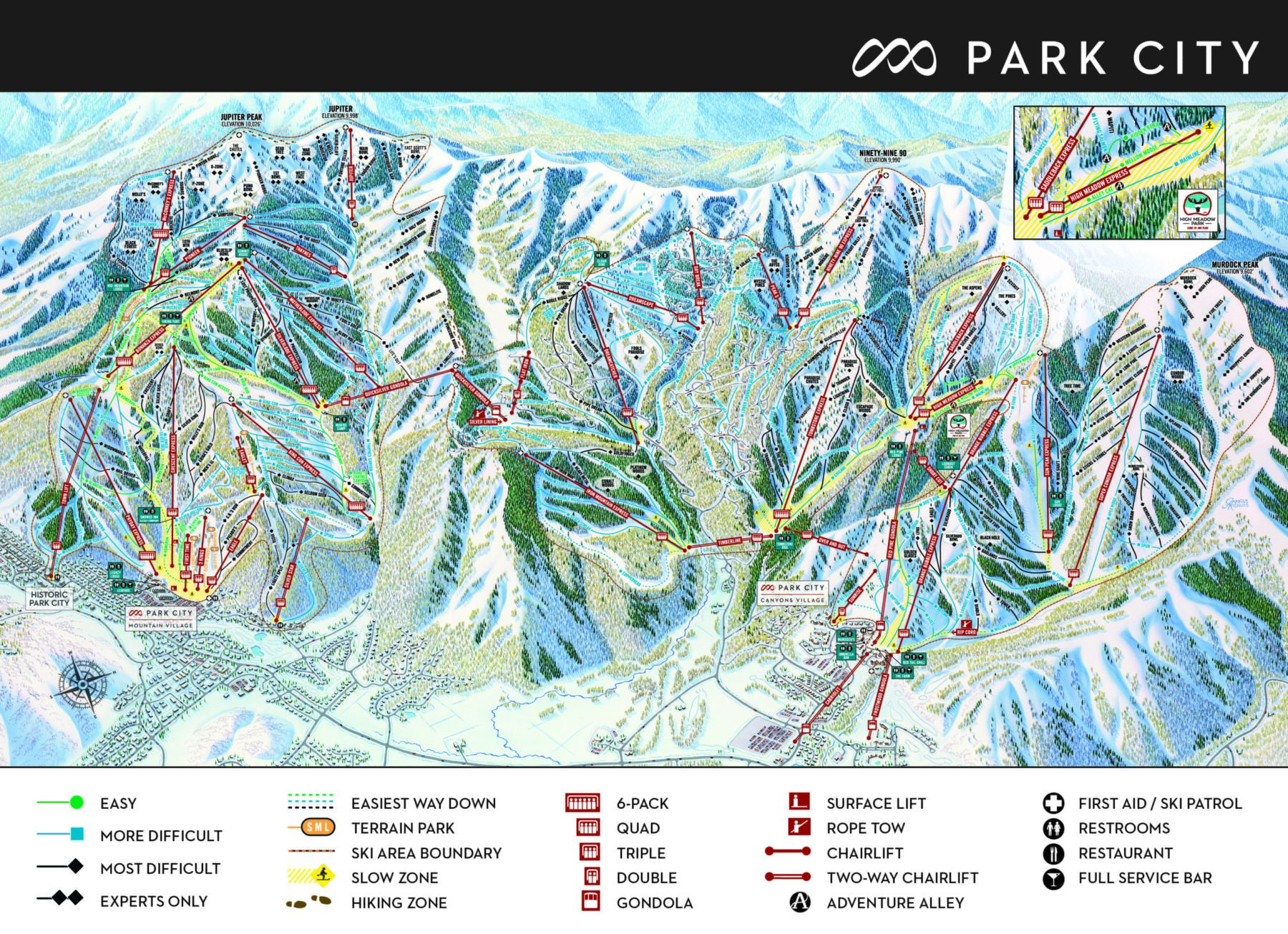 Park City Mountain Resort Trail Map
