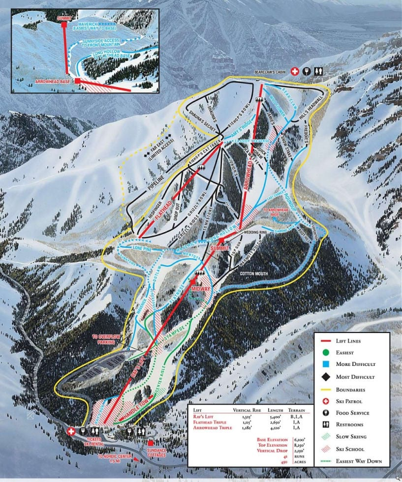 Sundance Ski Resort Map