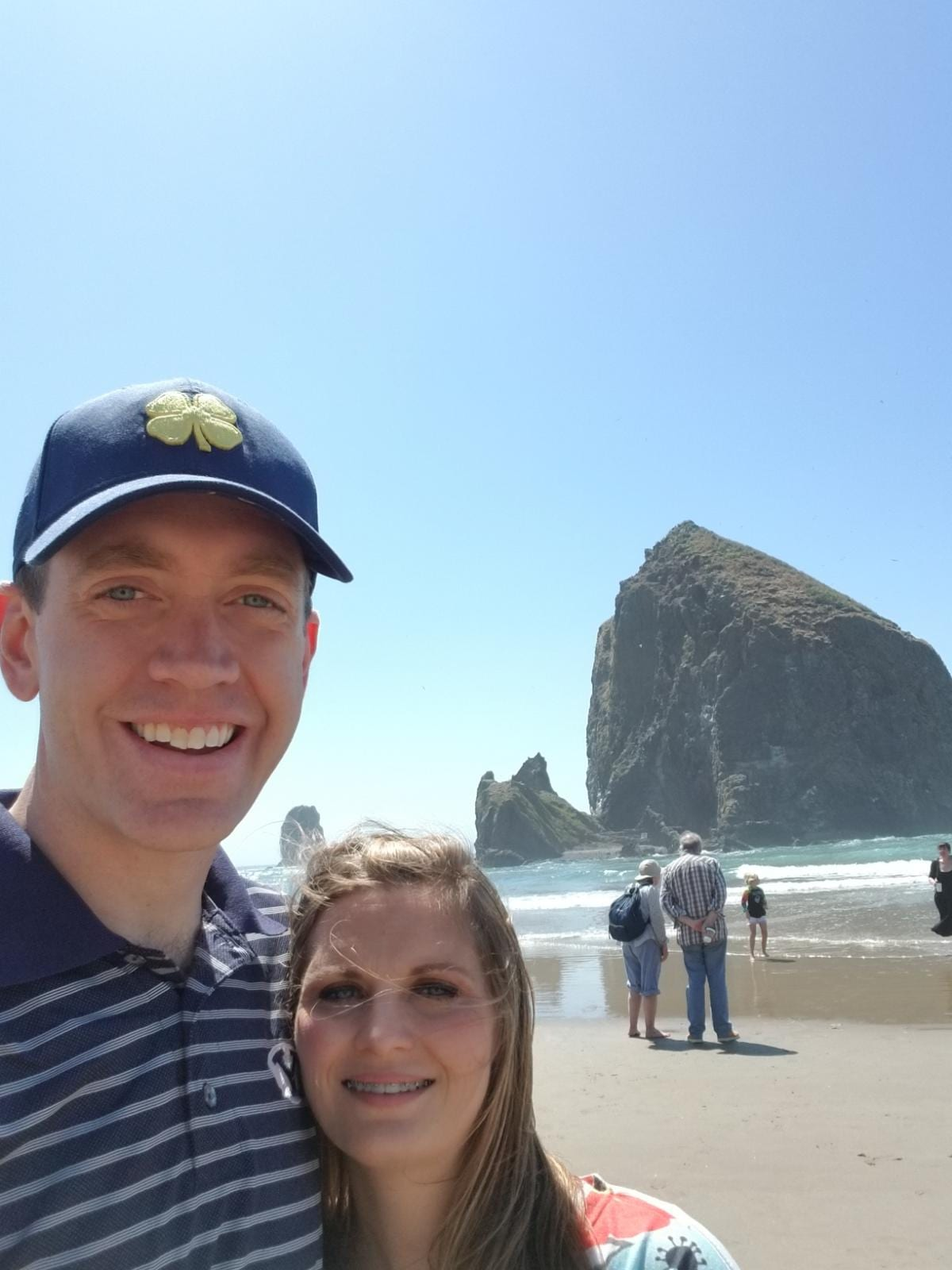 Haystack rock and Cannon Beach