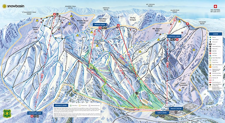 Snow Basin Ski Map