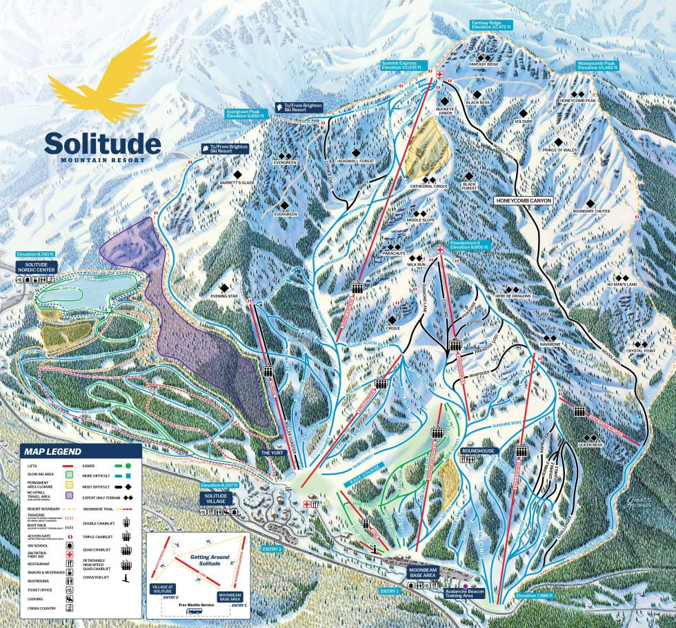 Solitude Ski Map
