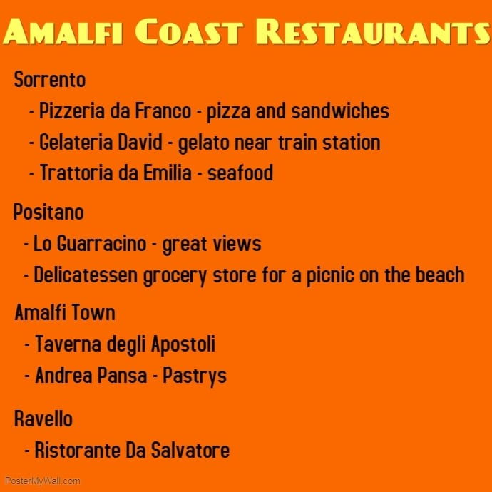 Amalfi Restaurants