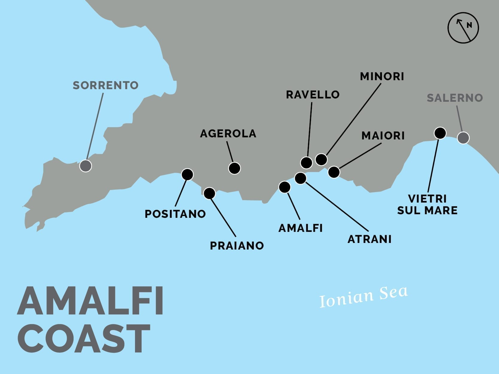 Map out the Amalfi Coast