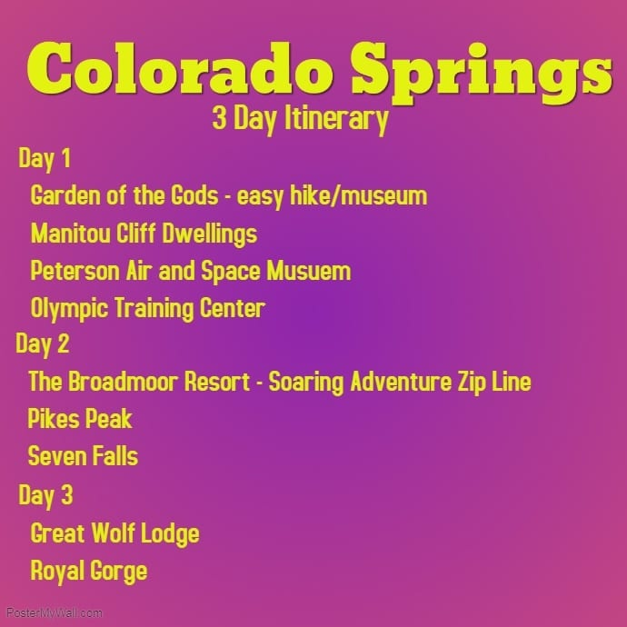 Colorado Springs Itinerary