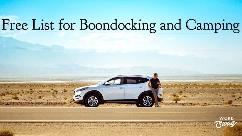 Free Apps for boondocking
