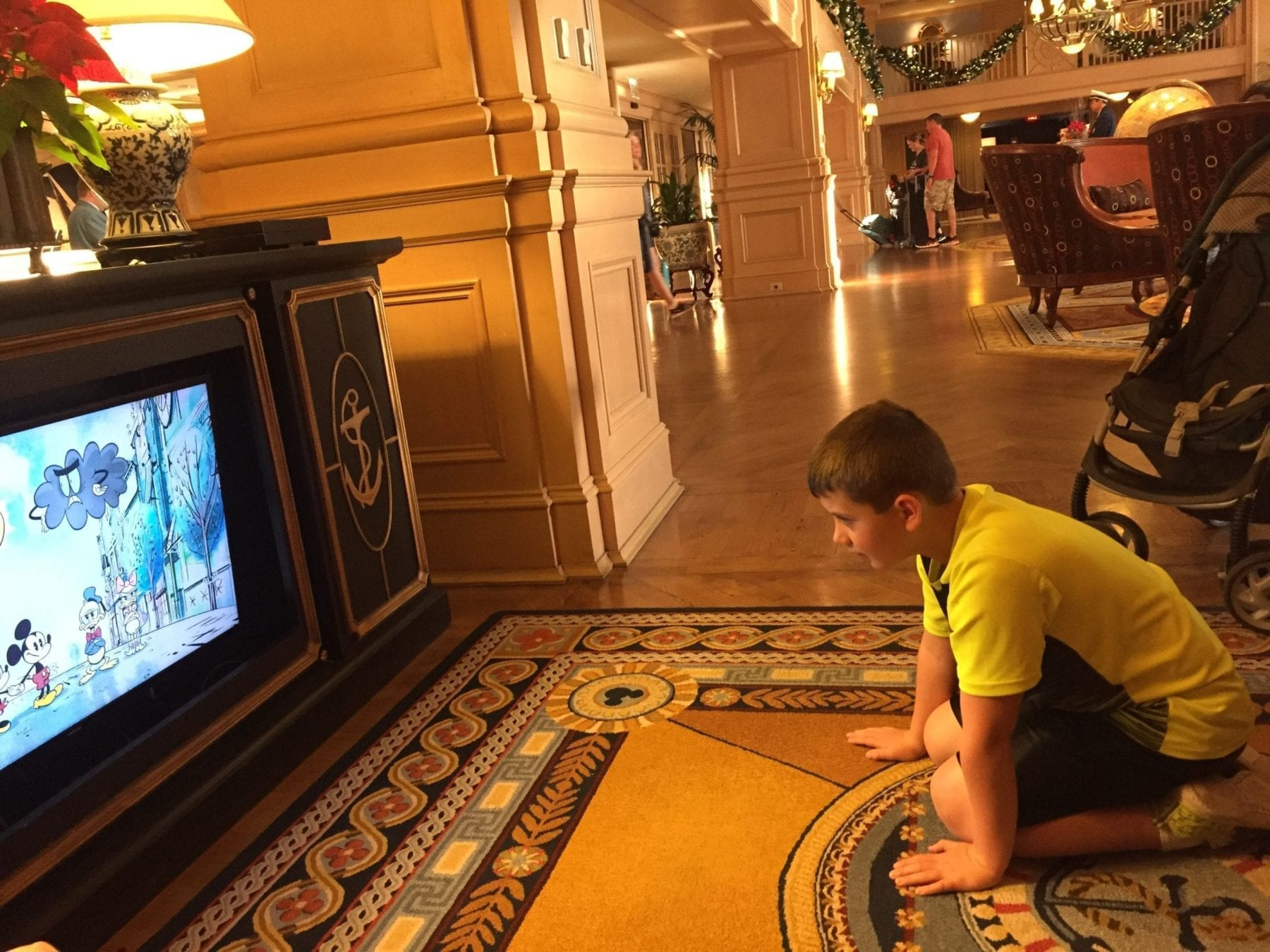 Watching TV at Disney Resort