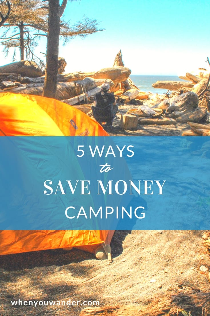 Save money when camping