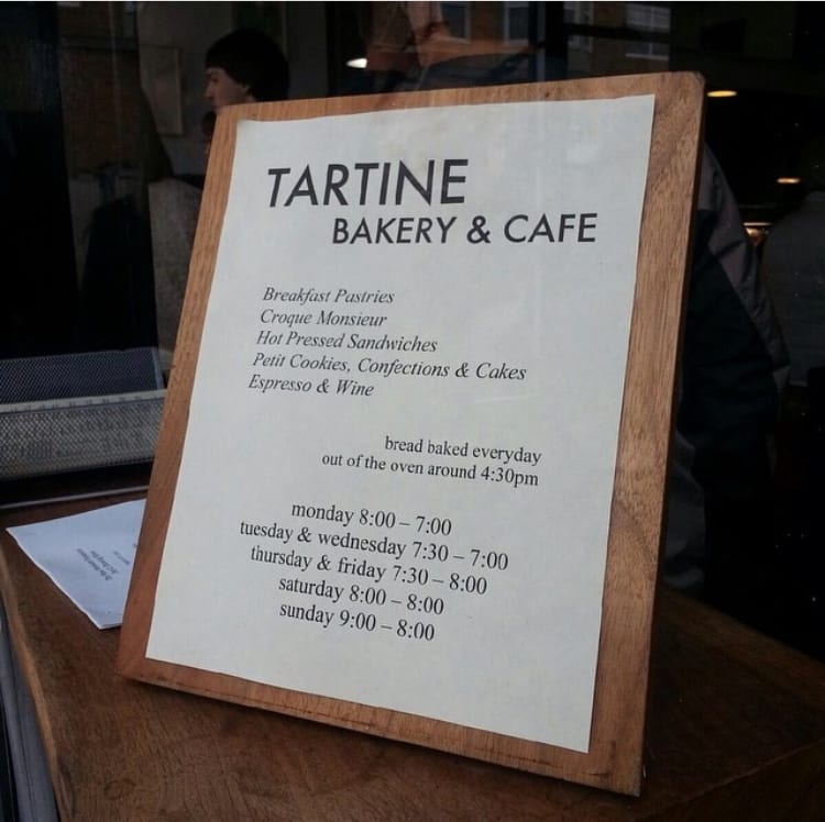 Tartine Bakery in San Francisco