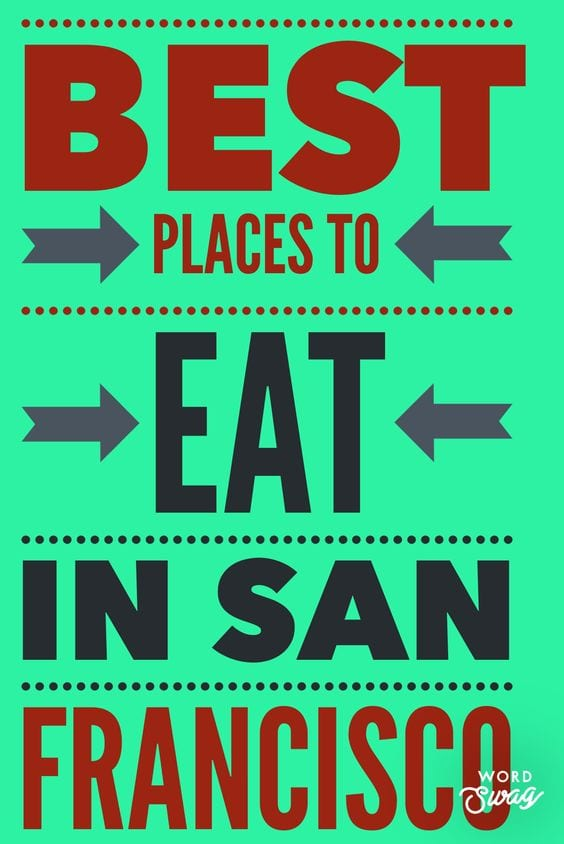 Best places to eat in san fran Pin for Pinterest