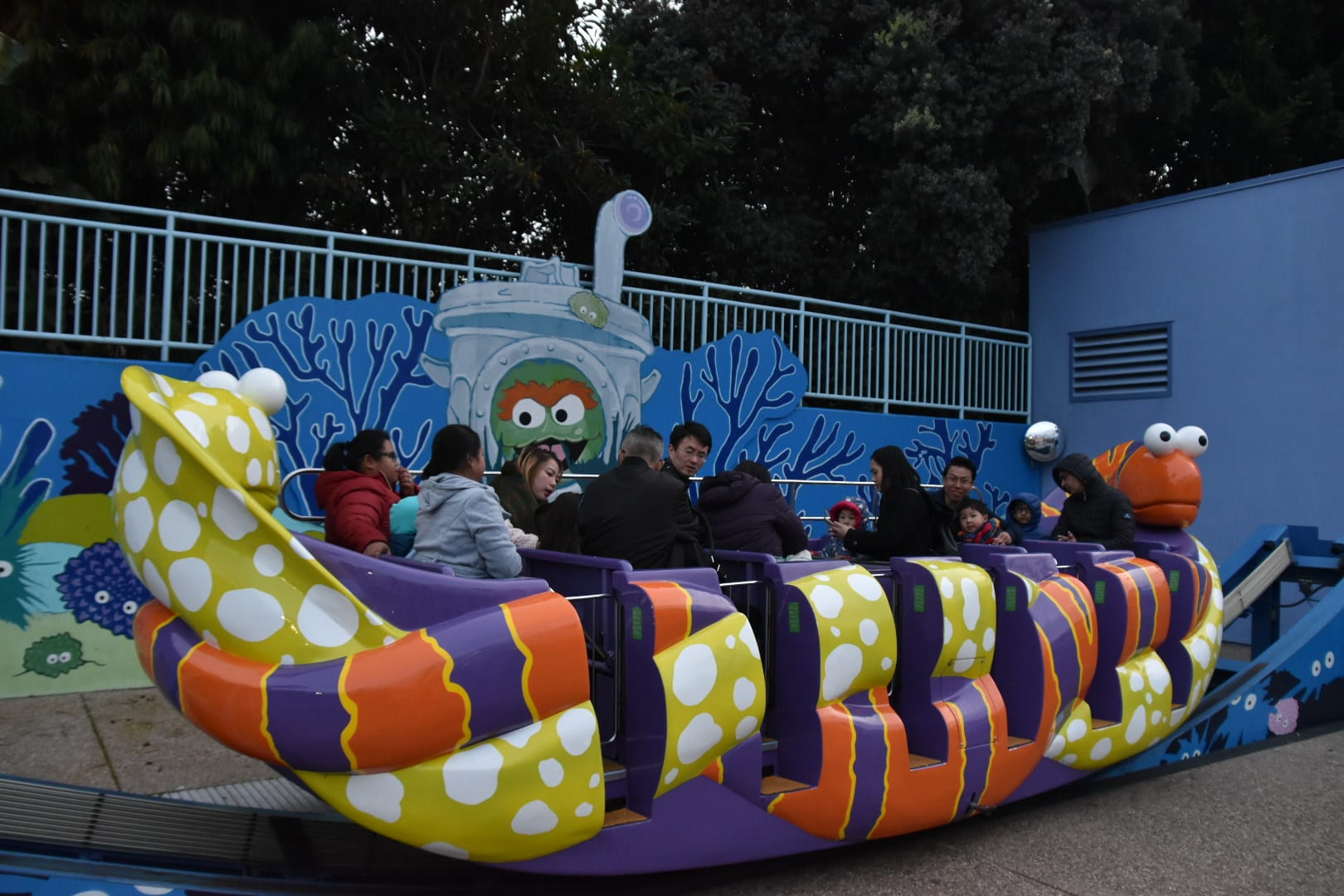 Oscar Eel ride at Sea World San Diego