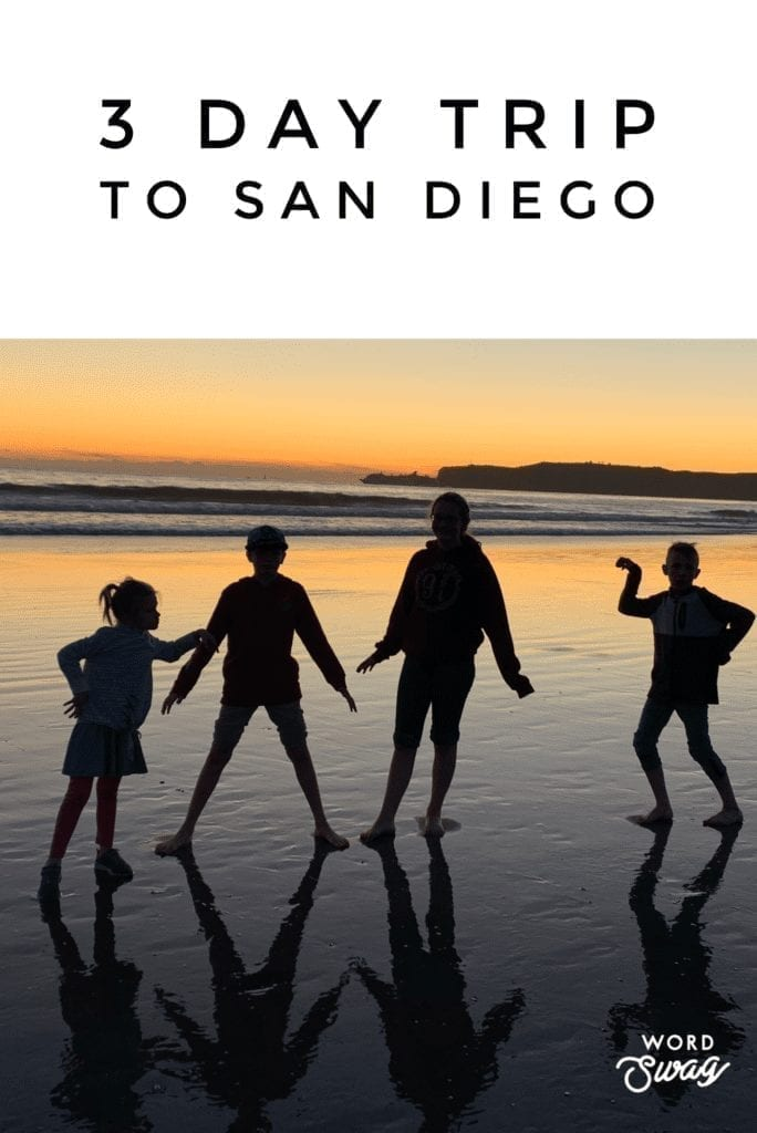 3 Day Trip To San Diego Pin for Pinterest