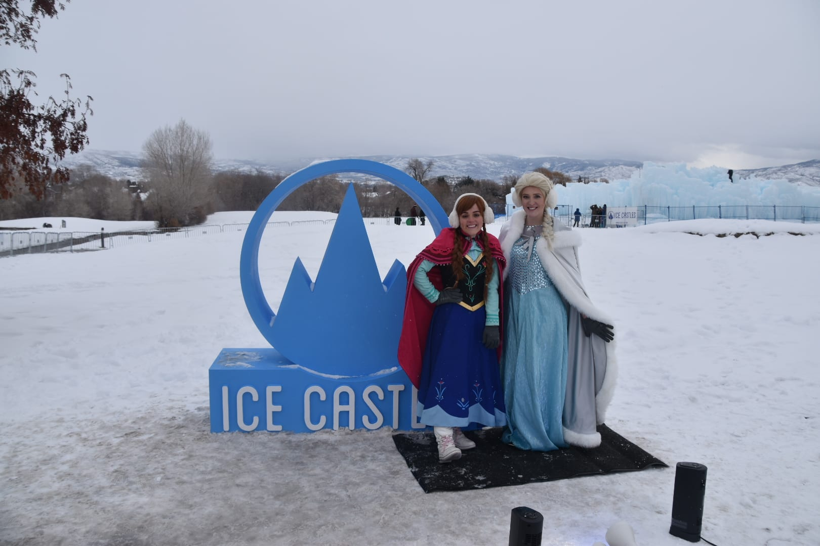 Midway Ice Castle Elsa and Anna