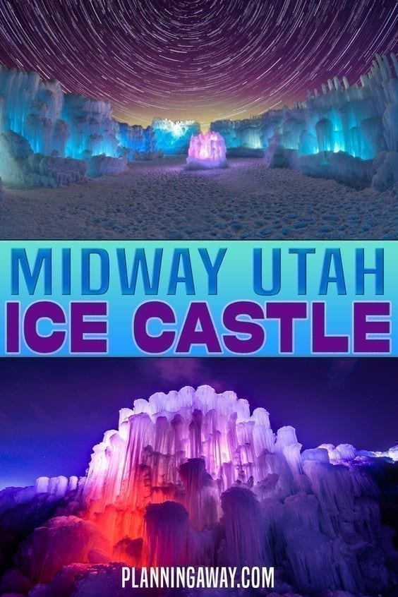 Midway Ice Castle Pin for Pinterest