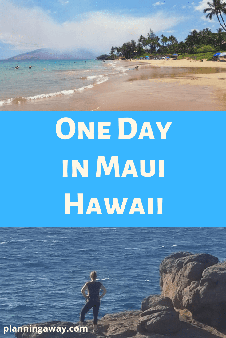 One day in Maui Pin for Pinterest