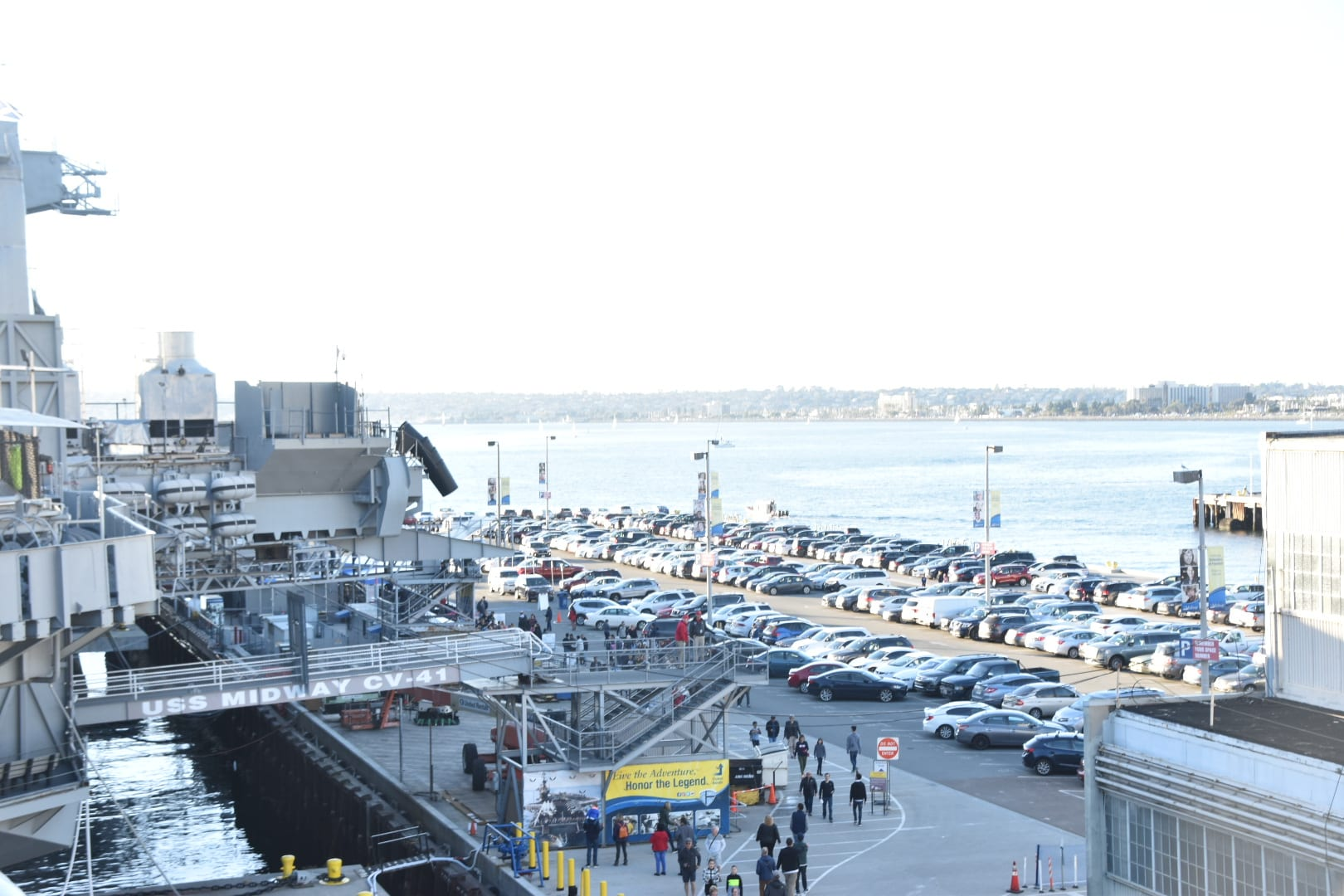 Parking at USS Midway