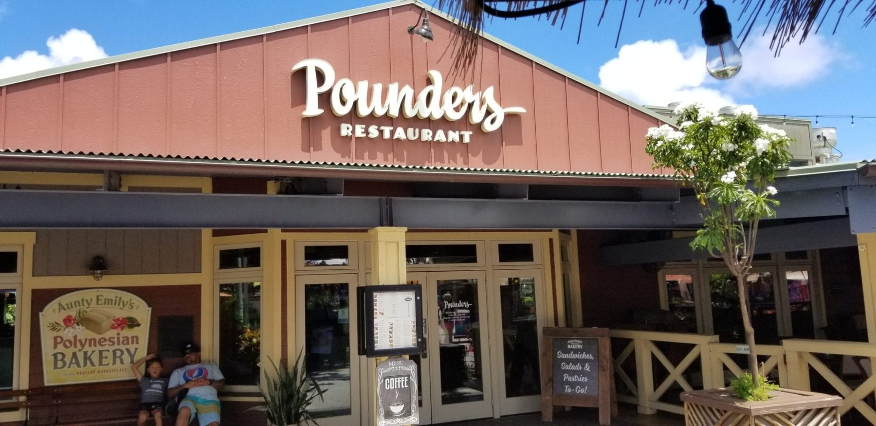 Pounders restaurant in Oahu