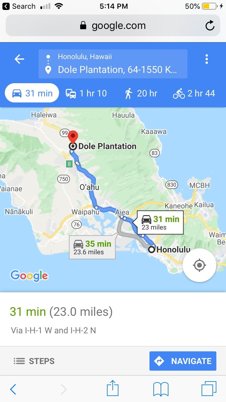 Where to get a Dole Whip in Hawaii? Dole Pineapple Plantation