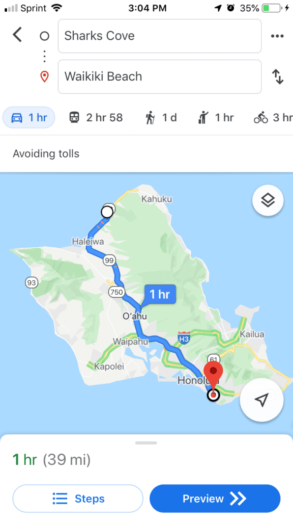 Fastest route to the North shore