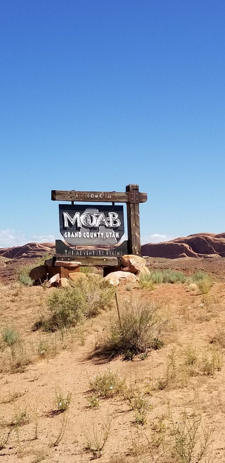 Planning a trip to Moab -Welcome to Moab sign