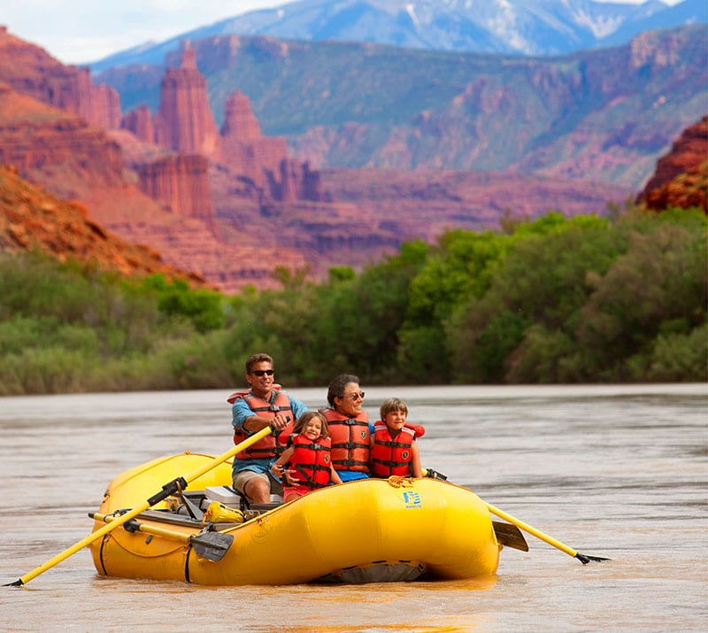 River rafting in Moab