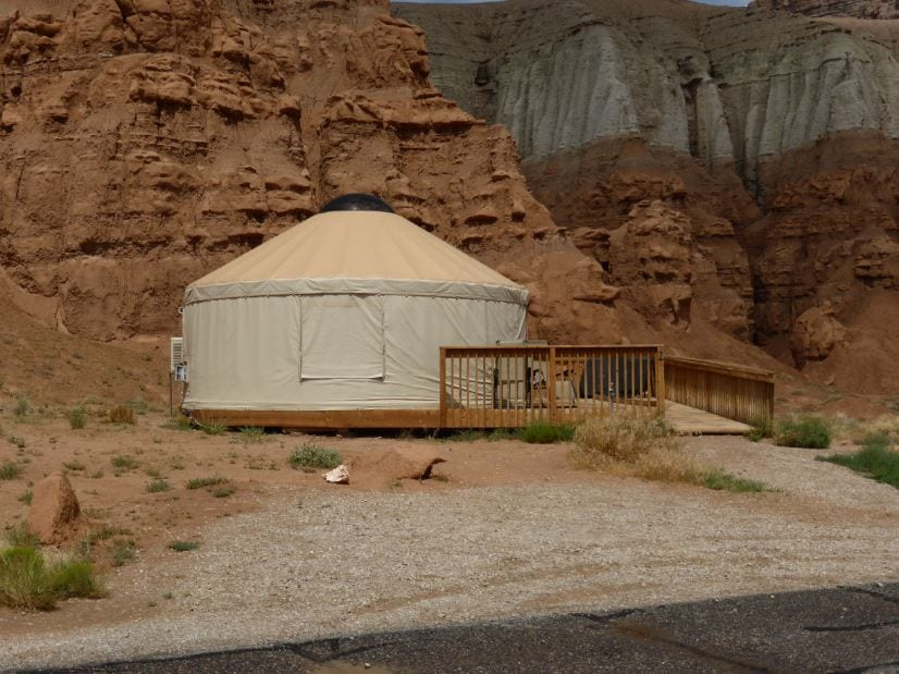 Yurt at Goblin Valley