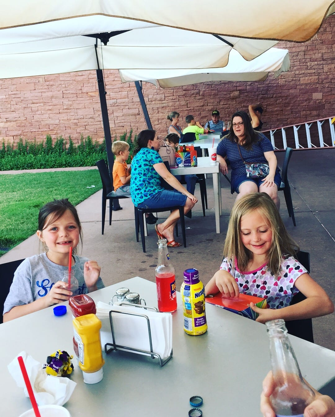 Outside seating at Pops OKC