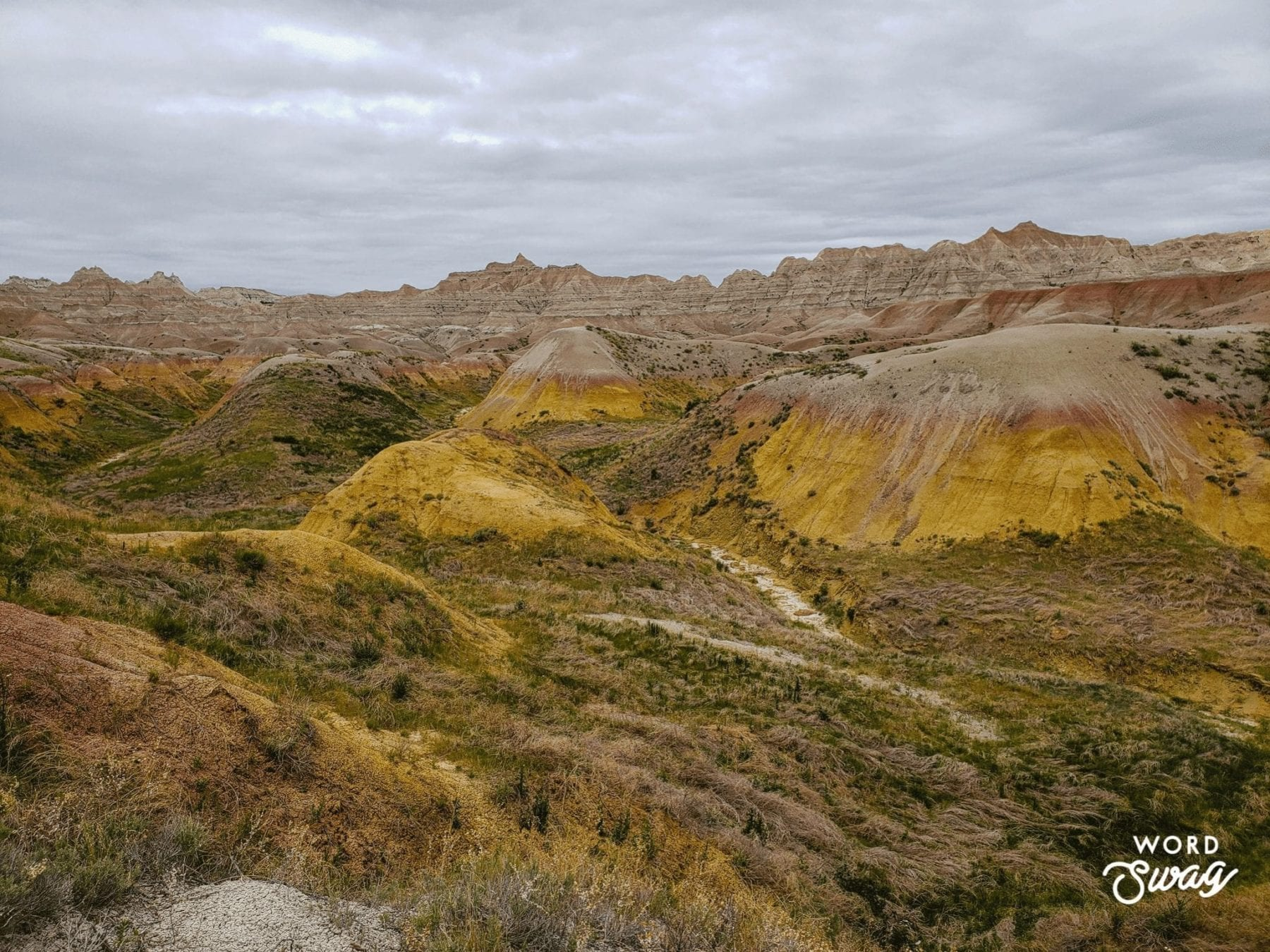 Yellow Mound Overlook Badlands National Park