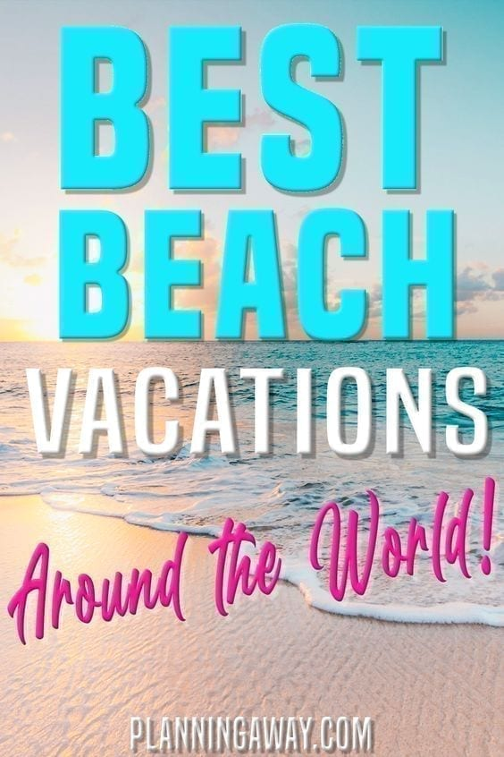 Plan a beach vacation Pin for Pinterest