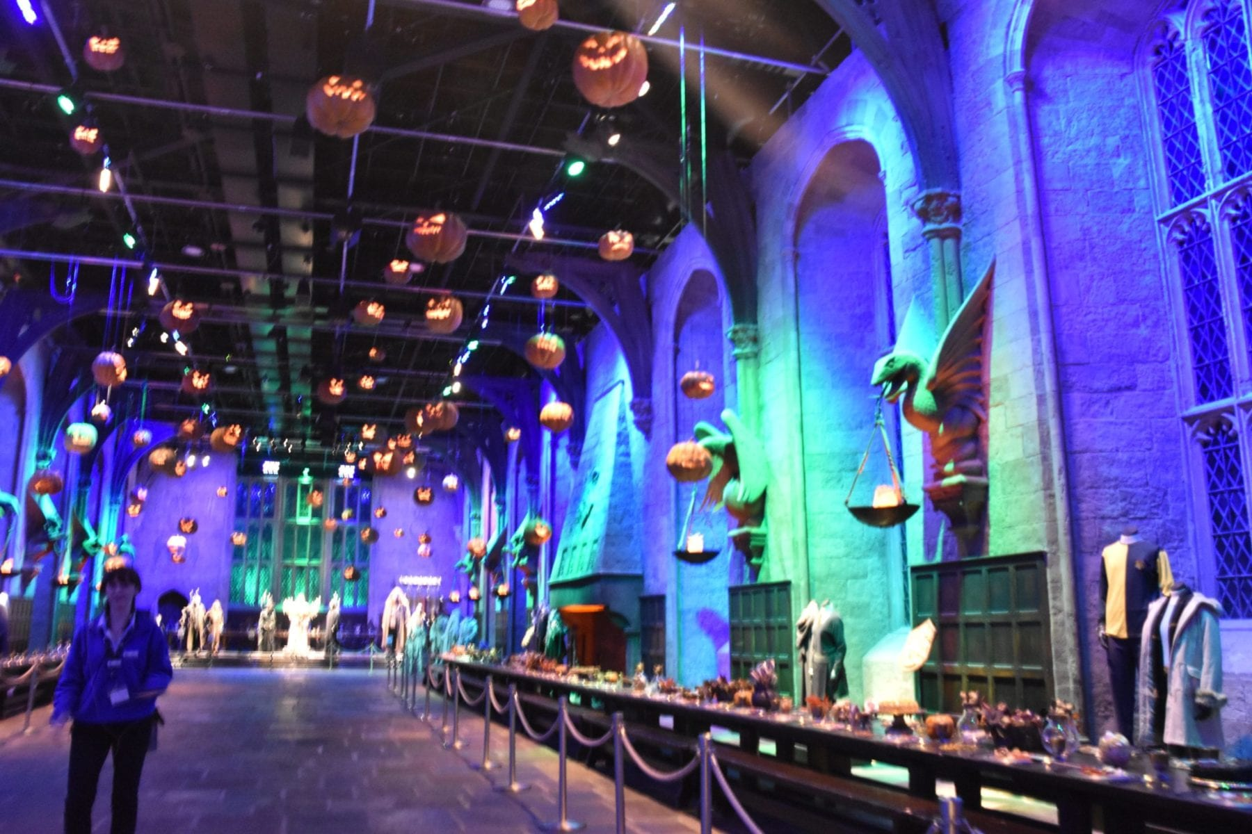 Great Hall at Harry Potter Studios London