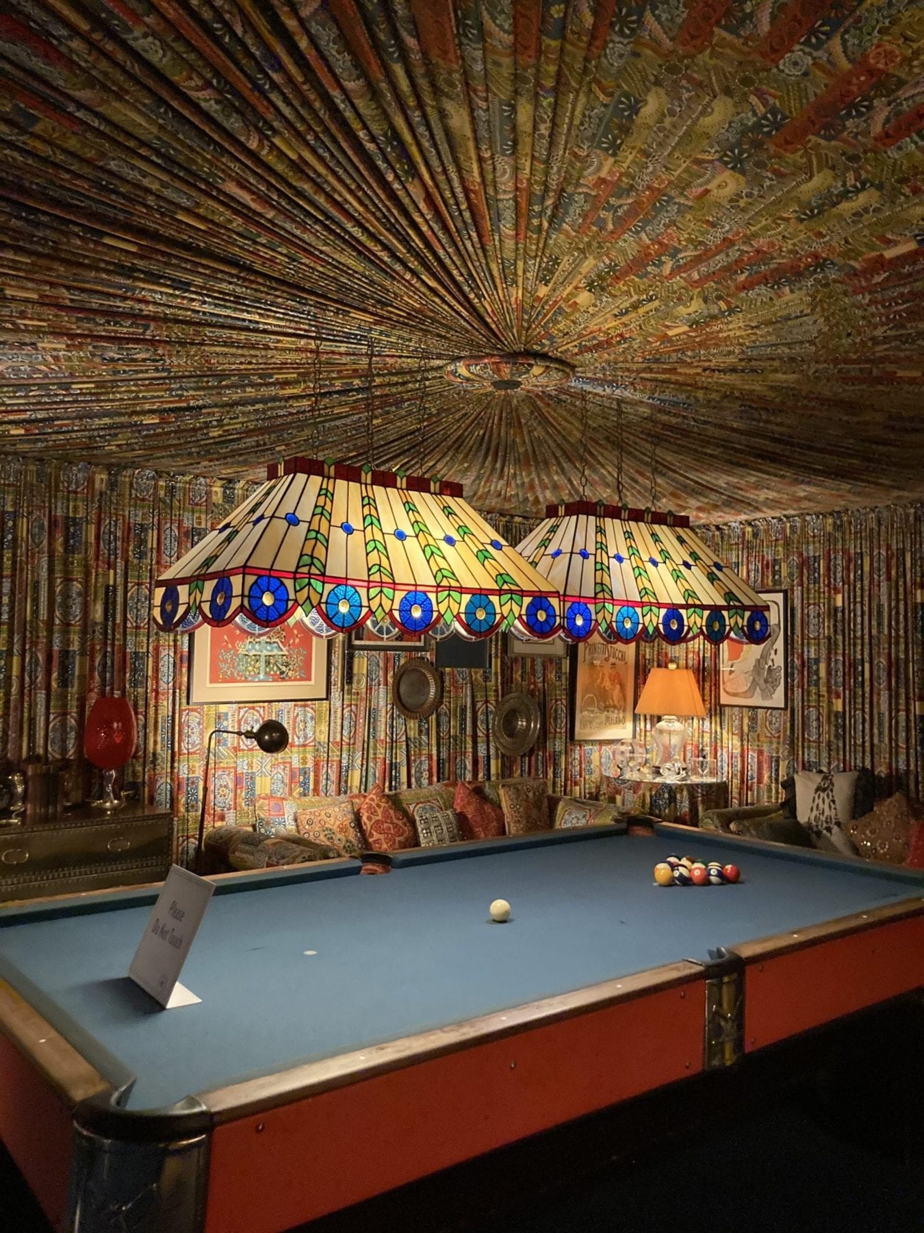 Billiards room at Graceland