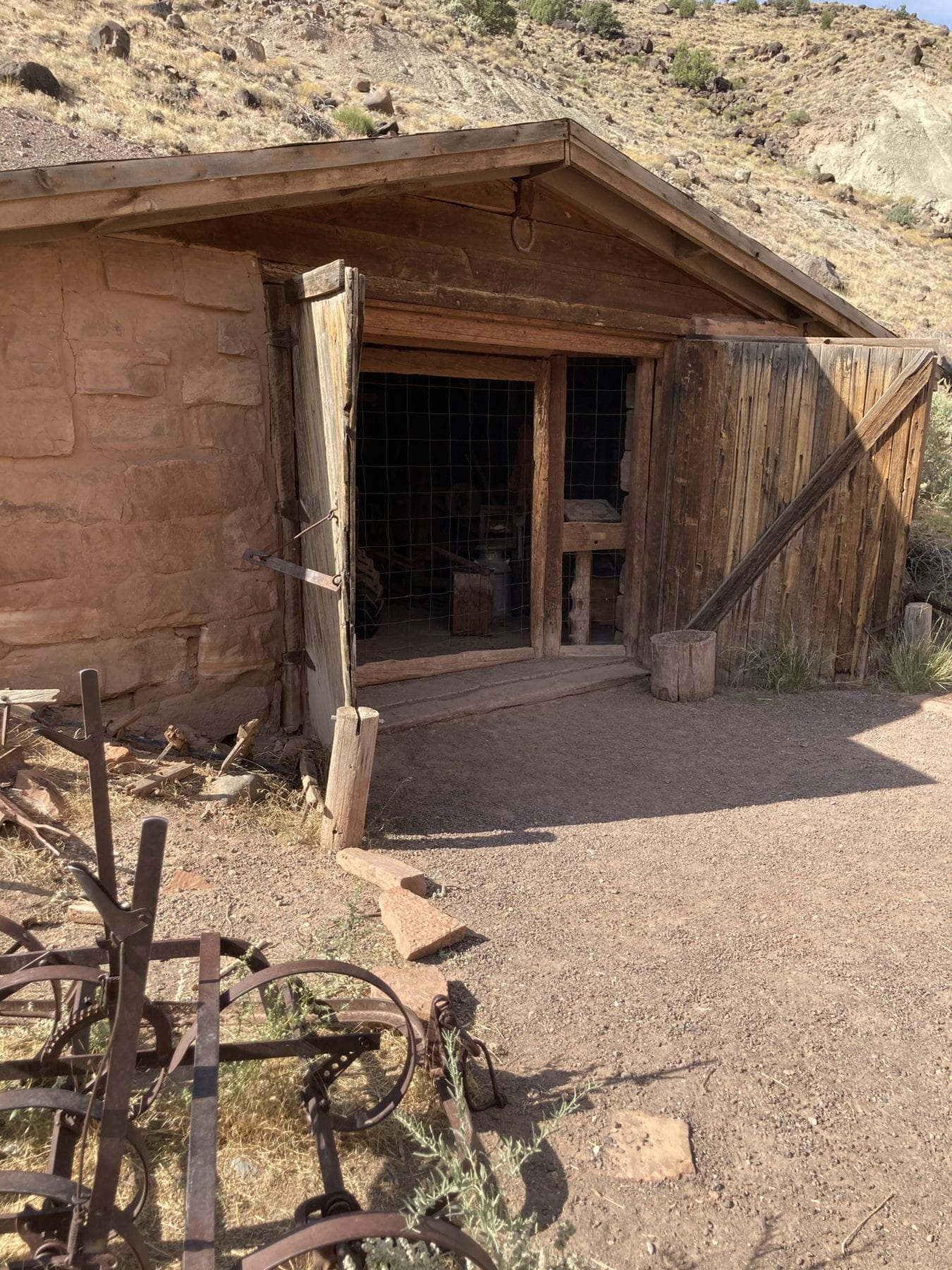 Black smith at Capitol Reef National Park