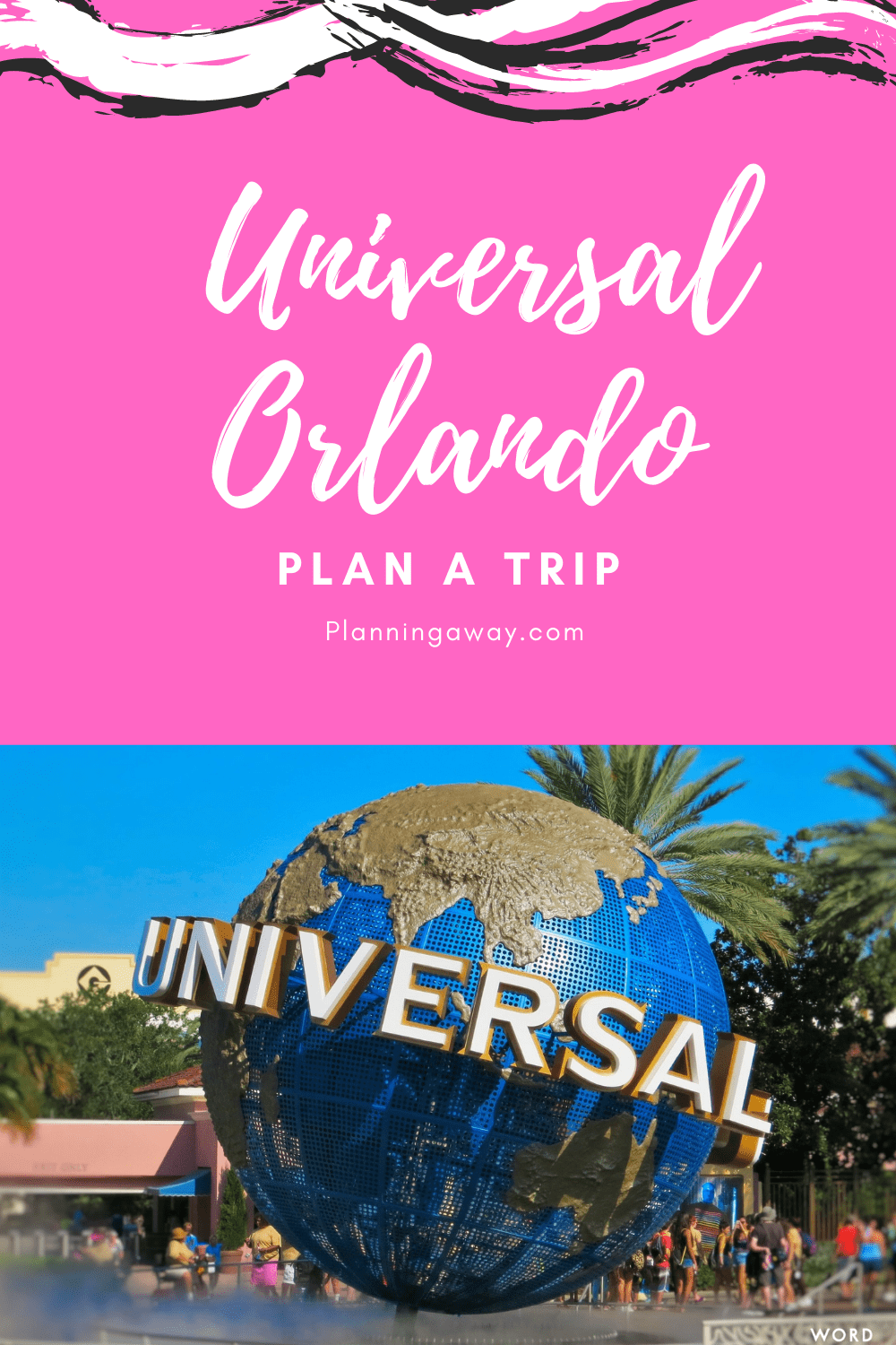 Plan a trip to Universal Orlando pin for Pinterest