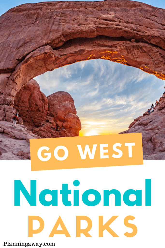 West Coast National Parks Pin for Pinterest