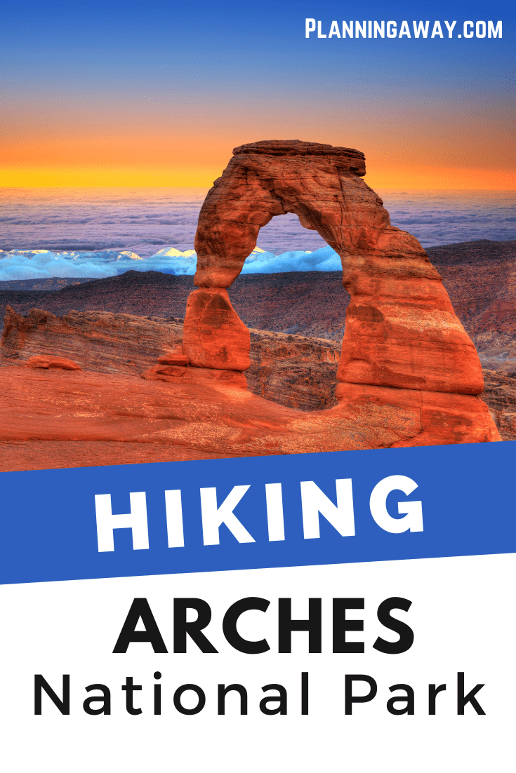 Hiking at Arches National Park Pin for Pinterest