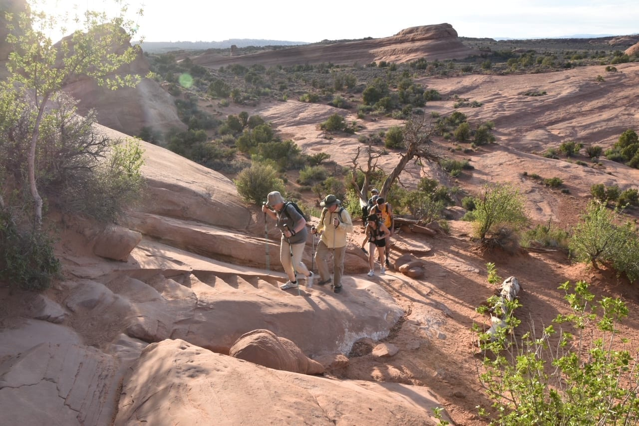 Hiking at Arches National Park - Delicate Arch