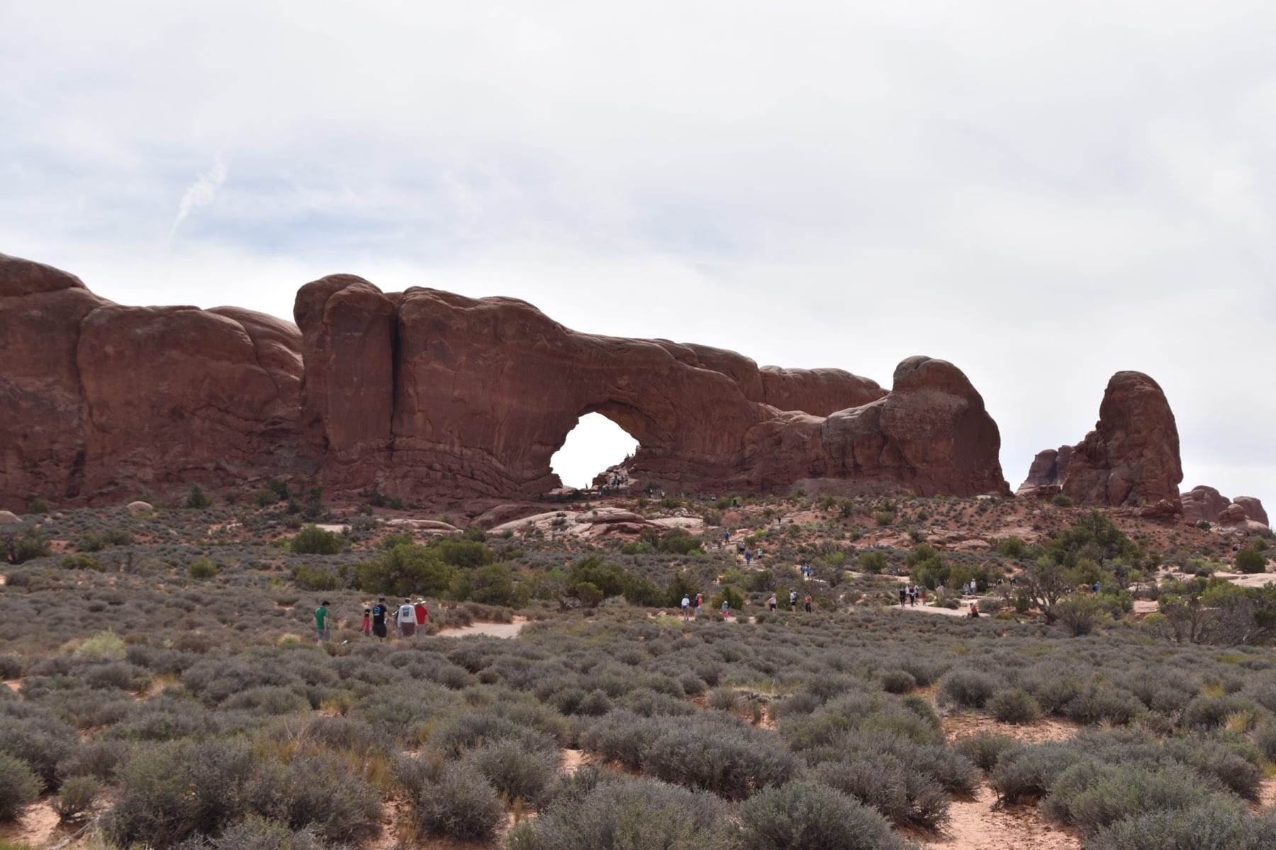 The Windows Trail at Arches National Park