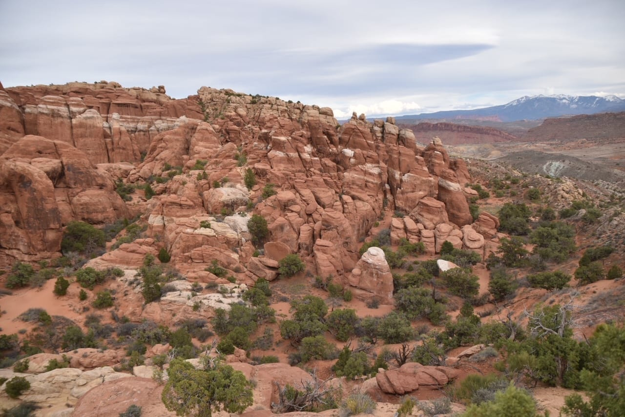 Hiking at Arches National Park - Fiery Furnace