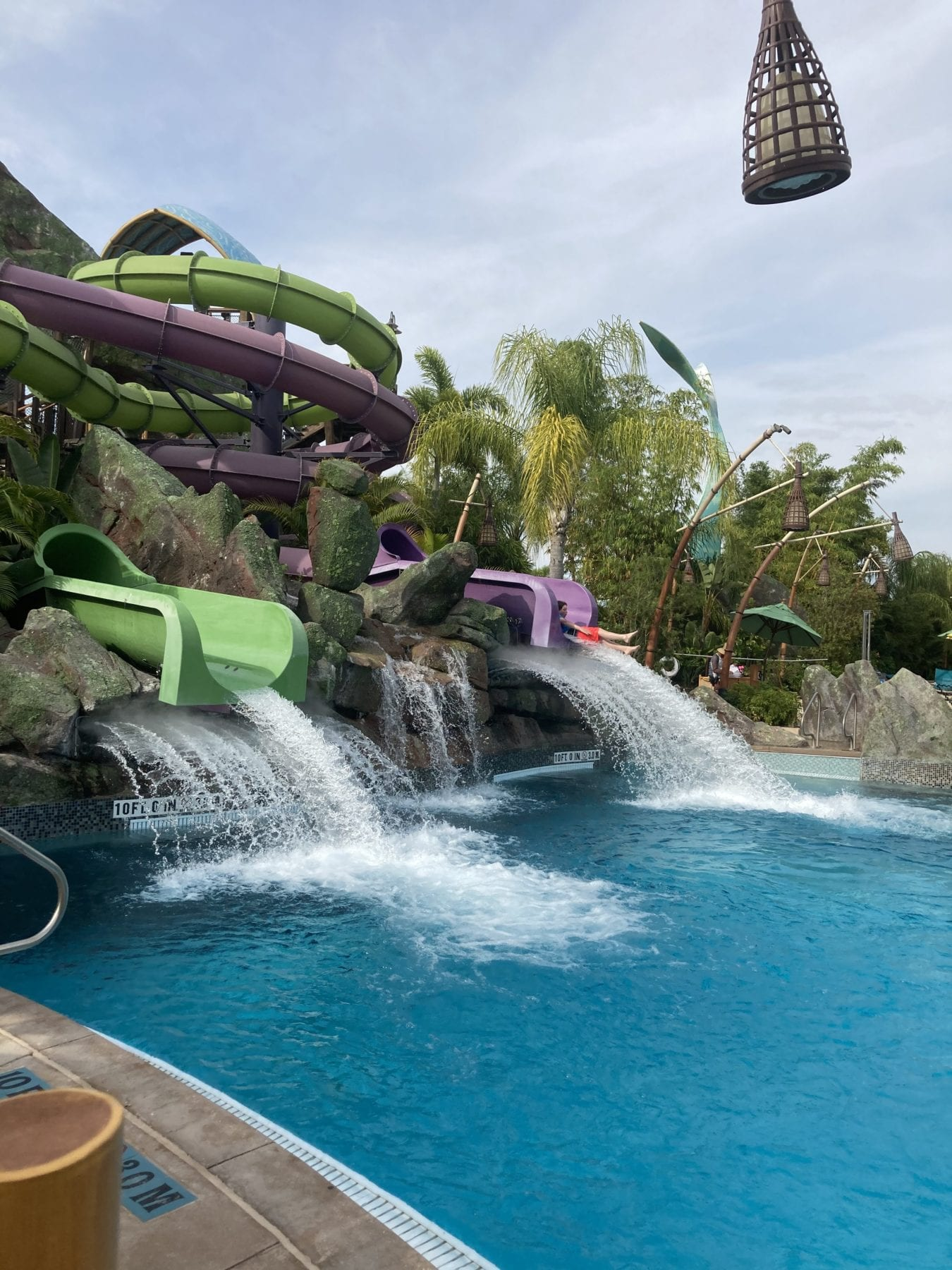 Ohyah of the Ohyah and Ohno Drop Slide at Volcano Bay